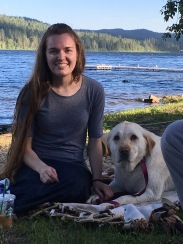 Mandy and her ever present dog Shebang!