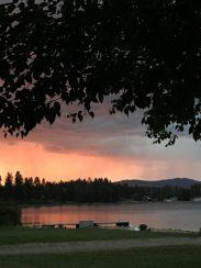 Last nite sunset at the Lake House